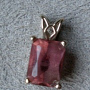 Beautiful 14k Gold and Tourmaline Pendant