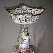 Magnificent Carl Thieme Dresden Porcelain Compote