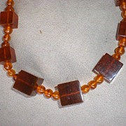 SOLD Magnificent & Unusual Large Chunky Amber Necklace