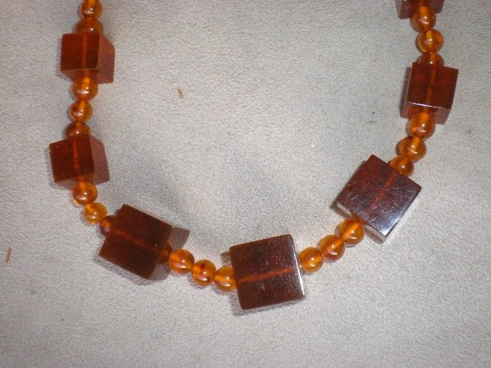 Magnificent & Unusual Large Chunky Amber Necklace