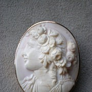 Magnificent Large Victorian Period Shell Cameo