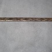 Fantastic Chevron Style Sterling Silver Bracelet