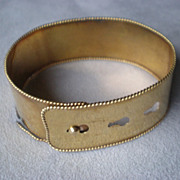 Marvelous Victorian 14k Gold Wide Cuff Bracelet