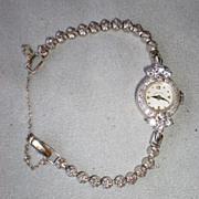 SALE PENDING Gorgeous 14k White Gold and Diamond Ladies Hamilton Watch