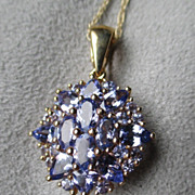Gorgeous 14k Gold and Tanzanite Pendant Necklace