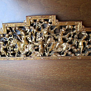 Carved Chinese Temple or Door Plaque