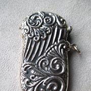 Vintage Sterling Silver Ornate Match Safe