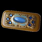 Vintage Bakelite and Rhinestone Deco Style Pin / Brooch