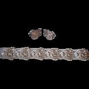 Birks Sterling Silver Filigree Bracelet & Earrings
