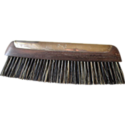 Beautiful Ebony and Sterling Silver Clothes Brush - France