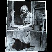 SOLD 1950's Silver Gelatin Print - Paula Wright - Farmers Wife