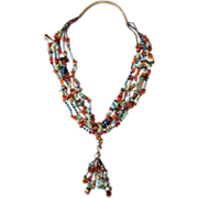 Stunning Five Strand Multi- Bead Native Necklace