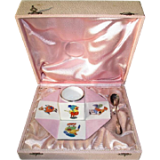 Charming Vintage French Boxed Child's Egg Cup with Spoon