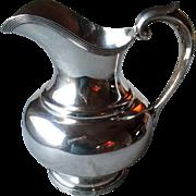Heavy Sterling Silver Water Pitcher by F. W. Drosten
