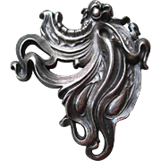 SOLD Stunning Art Nouveau Sterling Silver Pin or Brooch
