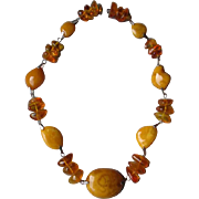 Fabulous Chunk Style Amber Necklace