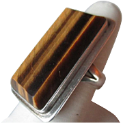 Stuning Mexican Sterling Silver and Tiger Eye Ring