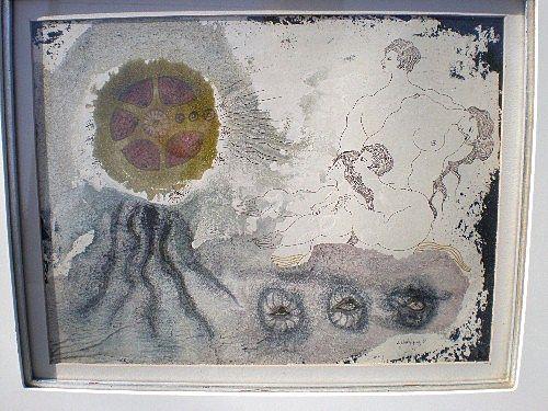 Original Modernist Painting by Juan Ramon Velasquez