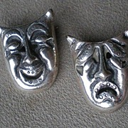 Wonderful Pair Mexican Sterling Drama Pins
