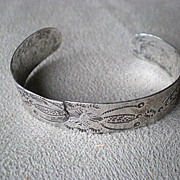 Early Native American Child's Practice Silver Bracelet