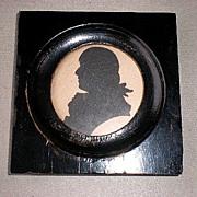 Marvelous 19th Century Miniature Silhouette Portrait - Robert Burns
