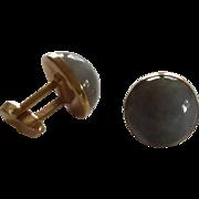 Swank Grey Moon Stone Glass Cuff Links Cufflinks