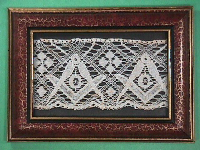 Late 1800s Bobbin Lace with Masonic Emblems