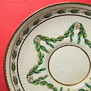 Antique Royal Worcester Porcelain Hand Enameled Neoclassical Revival Saucer dated 1881 (two avail.)