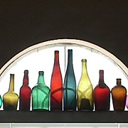 SALE Nine Colorful Hand Blown Bottles for Display or Decoration (dating c1765 up to 1890+)