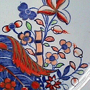 1880 (dated) Copeland Spode Gilded Cabbage or Tobacco Leaf Imari Dish (pattern 2061)