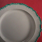 SOLD c1780 Wedgwood green feather edge pearlware 11+ inch Charger (aka Shell-edge)