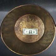 SALE 1850s Large 17 inch American Brass Apple Butter Pail or Kettle (Hayden's earliest mark)