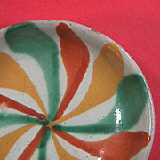 SALE Mid 1900s polychrome tin glazed Majolica small dish (Mexican or Spanish Maiolica)