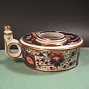 SALE c1825 Derby Porcelain Imari Witches Japan Ink and Quill Stand or Holder