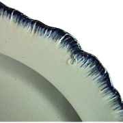 SALE c1785 Transitional Pearlware Plate with early blue featheredge rim, aka shell edge  ...