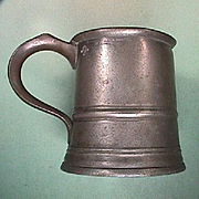 Late 1800s Pewter Pint Tankard converted to Pitcher (G. Farmiloe and Sons, London)