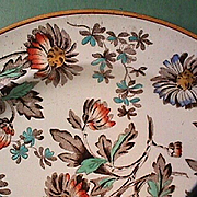 SALE 1880 (dated) Wedgwood Enameled Creamware Plate (Ovingtons Brooklyn / Chicago, importer)
