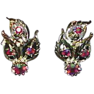 Vintage JUDY LEE Aurora Borealis Earrings