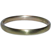 SALE Vintage PR ST CO Providence Stock Co. Gold Filled Hinged Bangle Bracelet