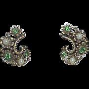 REDUCED Very Ornate LISNER Rhinestone Earrings