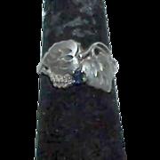 REDUCED Unusual Black Hills Sterling Spinel Ring