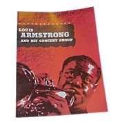 """REDUCED 1955-56 Louis """"Satchmo"""" Armstrong Program and Autograph"""