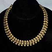 REDUCED Designer TRIFARI GoldTone Articulated Necklace