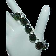 REDUCED Green Moon Glow Lucite Bubble Bead Bracelet