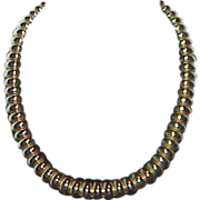 REDUCED Gold Tone Articulated Necklace