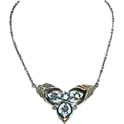 REDUCED Lavaliere Aurora Borealis Necklace in Celluloid Box