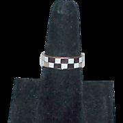 Solid Copper Checkerboard Ring