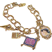 REDUCED Vintage DISNEY ALADDIN Charm Bracelet