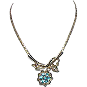 REDUCED Vintage Lavaliere Style Rhinestone Necklace