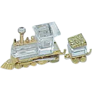 REDUCED Vintage Swarovski Crystal Train Engine and Tender